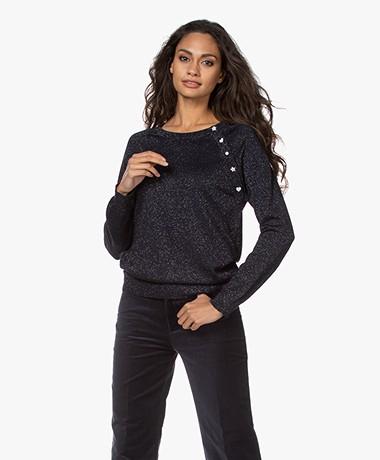 Zadig & Voltaire Reglis Lurex Sweater - Dark Blue