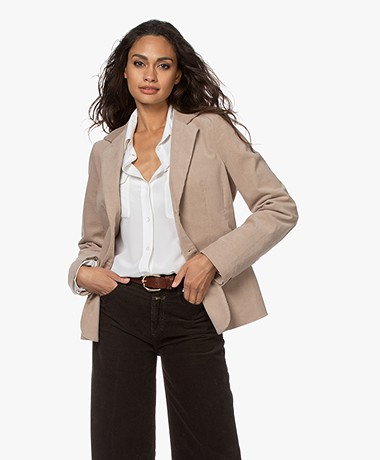 Woman by Earn Ann Corduroy Blazer - Zand