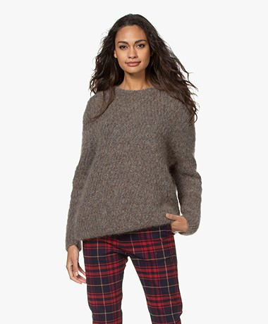 American Vintage Dolsea Mohair Blend Sweater - Chestnut Tree Melange