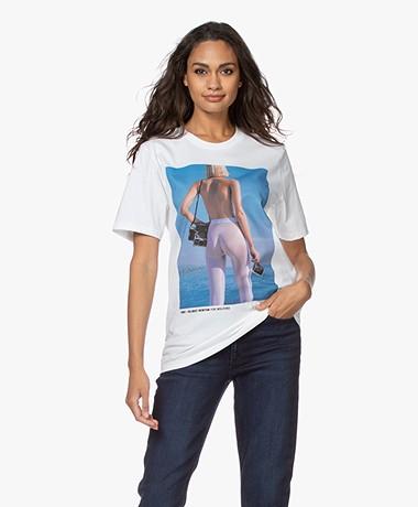 Wolford Limited Edition Helmut Newton T-shirt - Ocean Blue