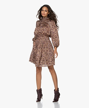 Zadig & Voltaire Reckon Satin Thorn Printed Dress - Blush
