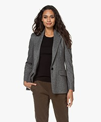 Drykorn Atlin Marled Viscose Blend Blazer - Rainy Day