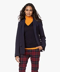 Woman by Earn Ann Blazer met Flared Mouwen - Navy