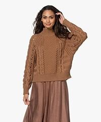 ba&sh Spirit Cable Knit Sweater - Caramel