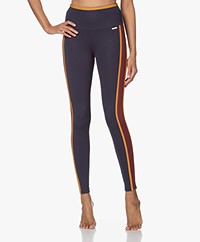 Deblon Sports Kate Sports Leggings - Navy/Burgundy/Ochre