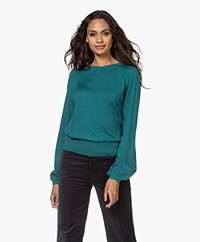 Plein Publique La Coeur Merino Wool Sweater - Smaragd Green