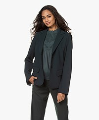 Woman by Earn Ann Japanese Crepe Blazer - Dark Green