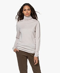 Woman by Earn Lou Merino Wool Turtleneck Sweater - Sand