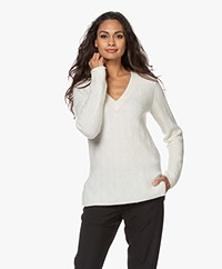 By Malene Birger Bifora V-neck Sweater - Soft White