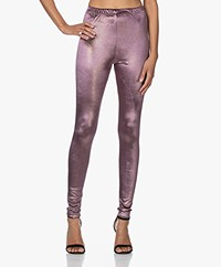 Mes Demoiselles Dance Velours Lurex Legging - Mauve