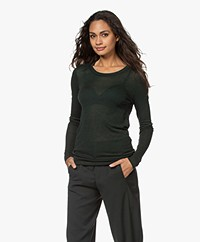 Closed Striped Lyocell and Wool Long Sleeve - Hedgerow