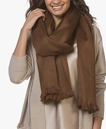 Alpaca Loca Handgemaakte Uni Sjaal in Alpaca - Bruin