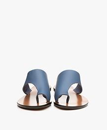 ATP Atelier Rosa Leren Slippers - Sky Blue