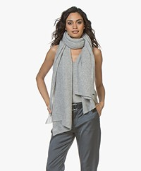 Repeat Pure Cashmere Scarf - Silver Grey