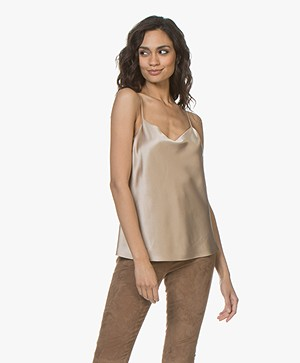 Joseph Sten Silk Satin Top - Coffee