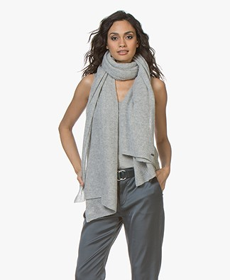 Repeat Cashmere Scarf - Silver Grey