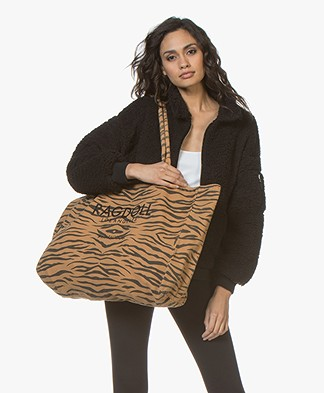 Ragdoll LA Holiday Bag in Cotton Canvas - Brown Zebra