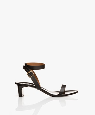ATP Atelier Cachi Vacchetta Heeled Sandals - Black
