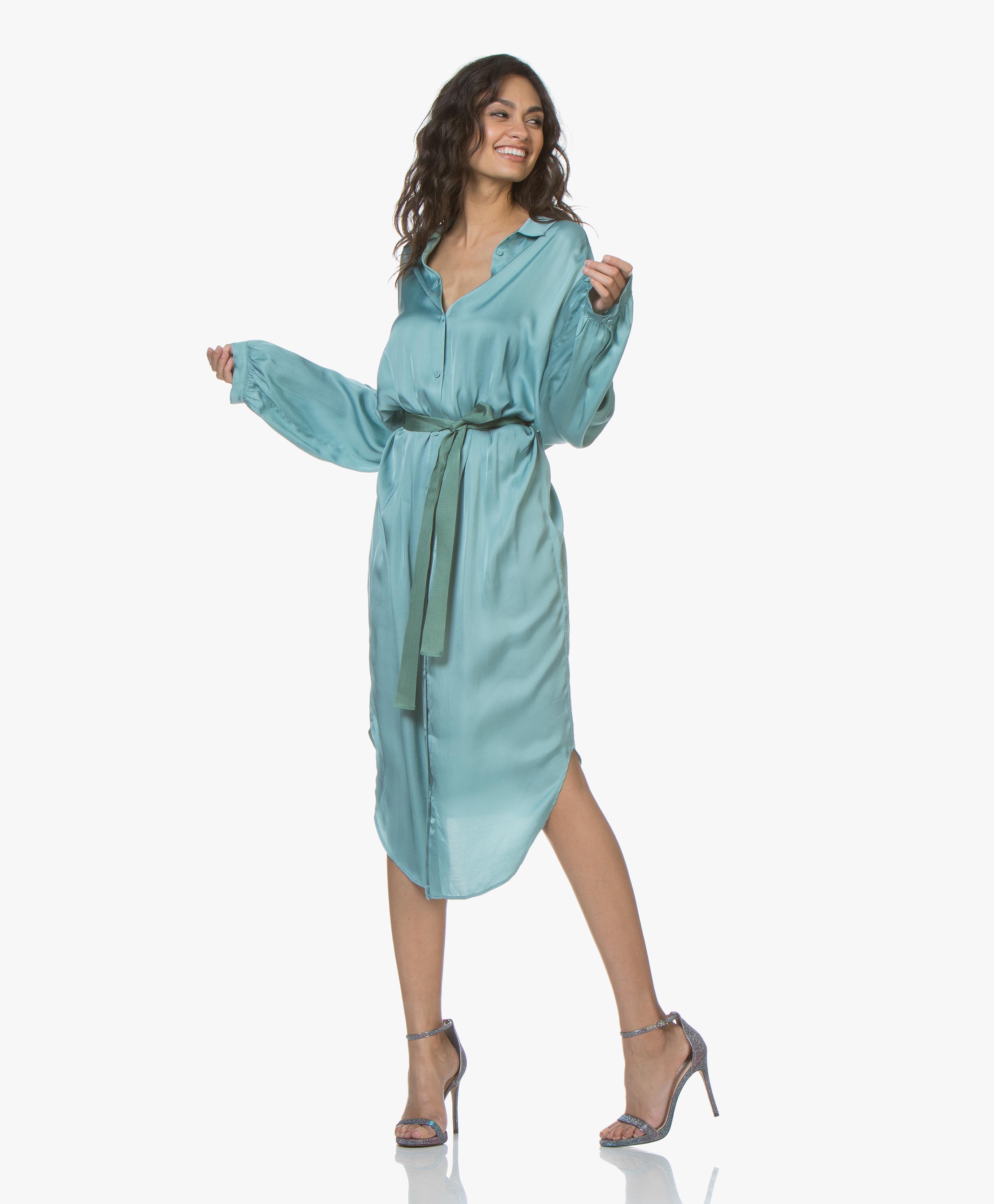 Sirena Dress Forte Satijnen Blousejurk 6041My forte 29DIEWH