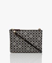By Malene Birger Ivy Mini Shoulder Bag - Black/Grey/Burgundy