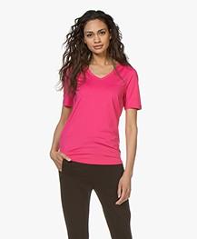 Buzinezz By BRAEZ Tech Jersey V-hals T-shirt - Roze