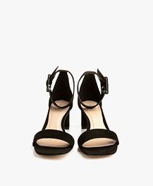 Filippa K Frances Suède Mid Heel Sandalen - Zwart