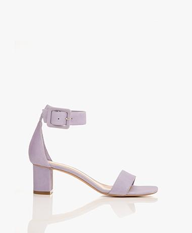 Filippa K Frances Suede Mid Heel Sandals - Hyacinth