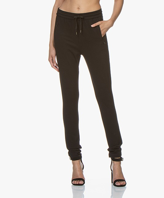 Buzinezz by BRAEZ Sportieve Twill Jersey Pantalon - Zwart