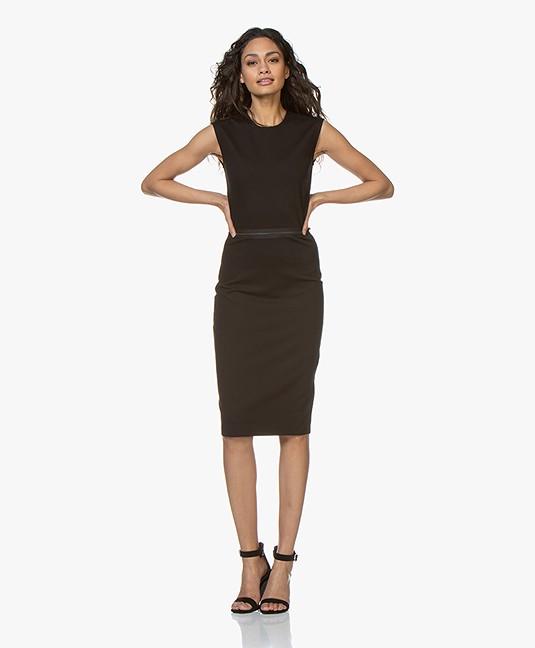 Buzinezz By BRAEZ Sleeveless Twill Jersey Dress - Black