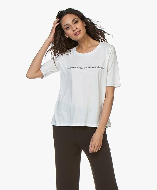 MKT Studio Tamey Statement Print T-shirt - Off-white