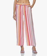 Josephine & Co Carleen Striped Linen Pants - Pink