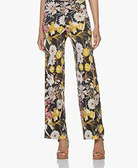 no man's land Viscose Jersey Pants with Print - Buttercup