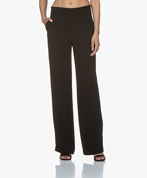 Joseph New Ferdy Satin-crepe Pants - Black