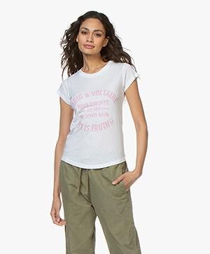 Zadig & Voltaire Skinny Blason Print T-shirt - Wit