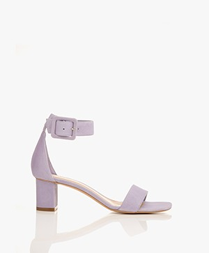 Filippa K Frances Suede Mid Heel Sandals - Hyacinth