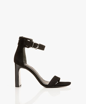 Rag & Bone Ellis Suede Sandals with Heel - Black
