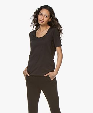 Buzinezz By BRAEZ Tech Jersey T-shirt with Round Neck - Black
