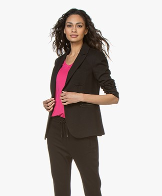 Buzinezz by BRAEZ Viscose Twill Blazer - Black