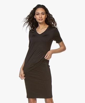 Buzinezz By BRAEZ Tech Jersey V-hals T-shirt - Black