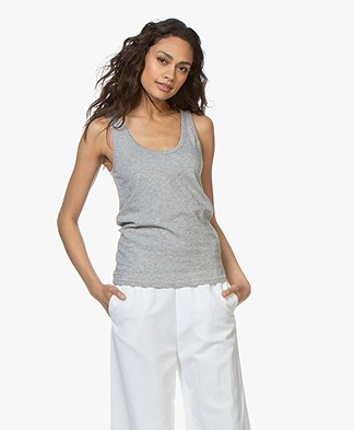 Rag & Bone Cotton Tank Top - Heather Grey