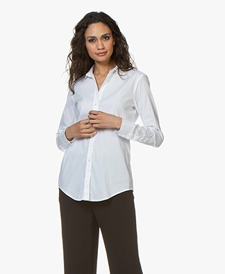 Closed Annie Cotton Stretch Blouse - White