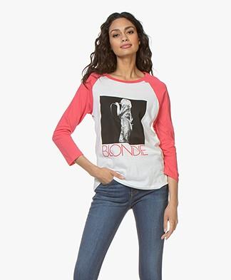 MKT Studio Tudo Raglan Print T-shirt - White/Pink
