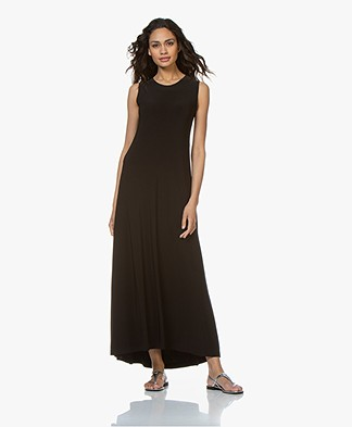 Norma Kamali Sleeveless Swing Maxi Dress - Black