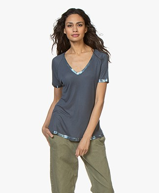 Zadig & Voltaire Margot Foil T-shirt - Greyish Blue