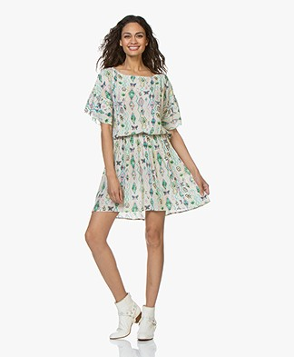 Zadig & Voltaire Roxana Kilim Print Dress - Ecru
