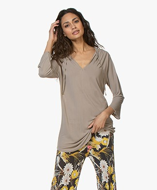 Filippa K Sheer Tuniek Blouse - Greige