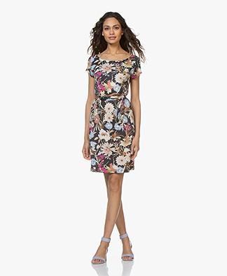 no man's land Viscose Jersey Printed Dress - Azure