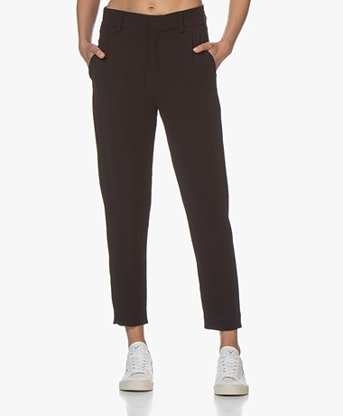 Drykorn Find Tapered Twill Pants - Navy