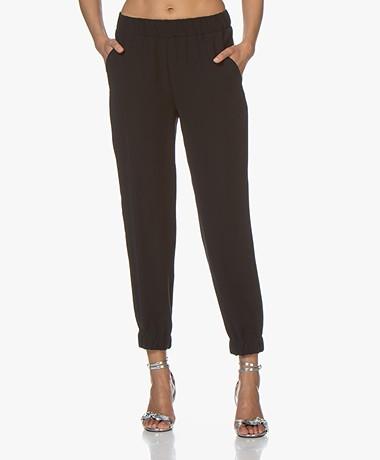 Drykorn Rase Loose-fit Twill Pants - Black
