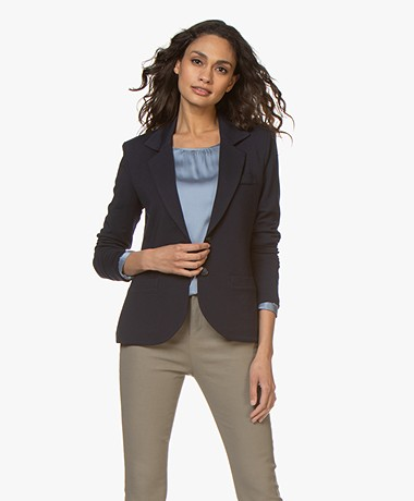 Repeat Tailored Jersey Blazer - Navy